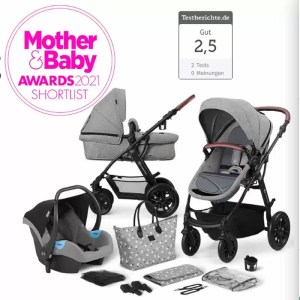 Carucior XMoov Kinderkraft 3 in 1 grey