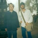 Frank Caruso with Monk near LeShan Buddha