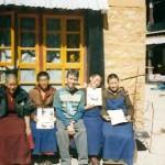 Frank Caruso with wtih Tibetan Nuns Lhasa Tibet