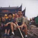 Frank Caruso, L.Ac. with With a group of elders top of JiuHua Mountain