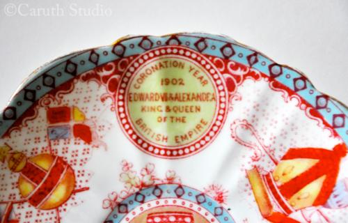 Edward VII coronation plate detail