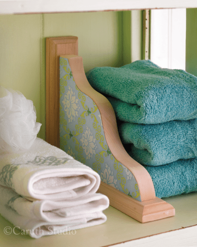 Organized bath towels