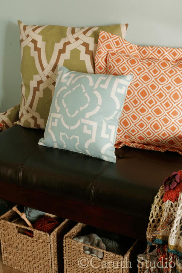 Detail of pillows
