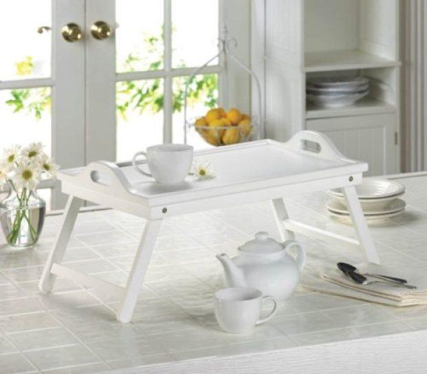 White Breakfast Tray