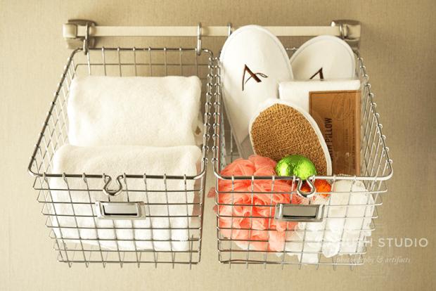Hanging locker baskets