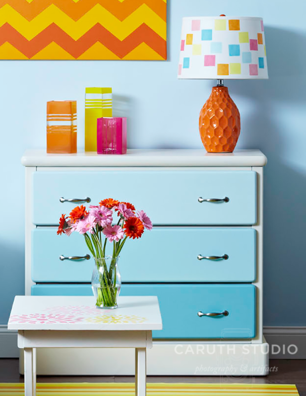 Ombre chest of drawers