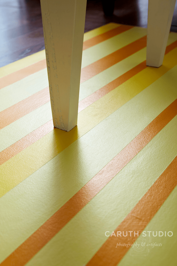 Painted floorcloth