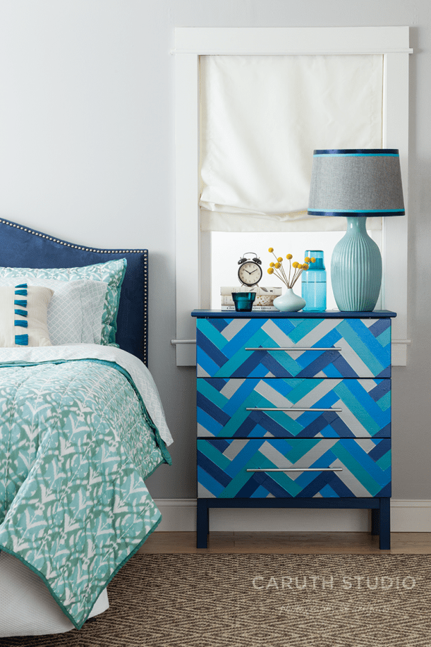 Duct Tape Dresser in a zigzag pattern