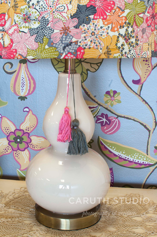 Tassels on lamp base