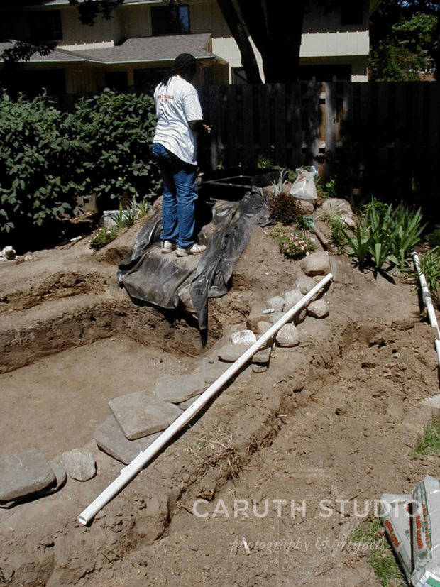 Trench for tubing and wiring