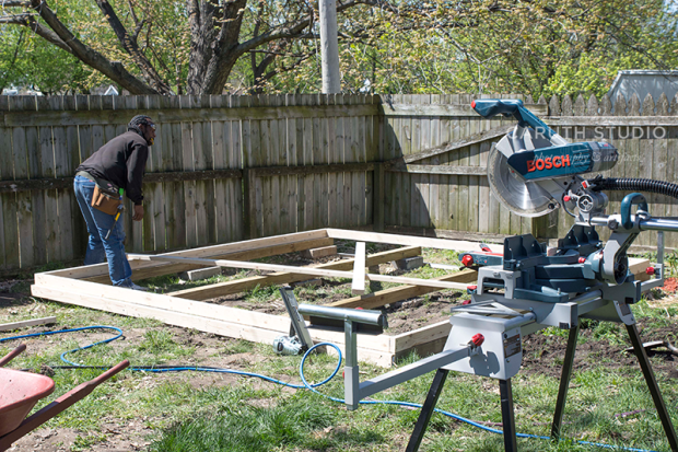 Building the floor frame