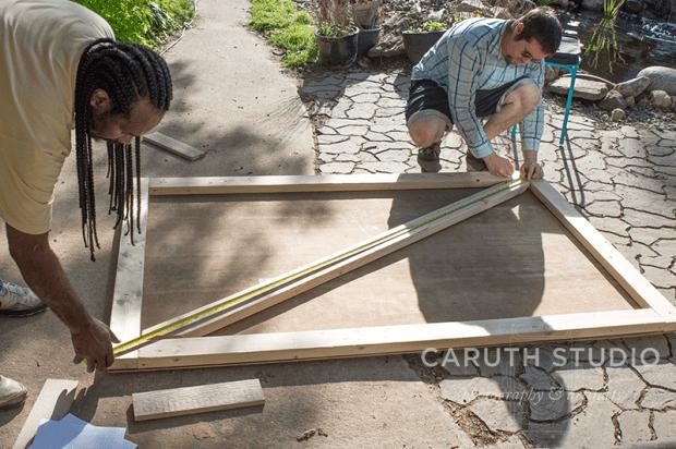 Making the barn door