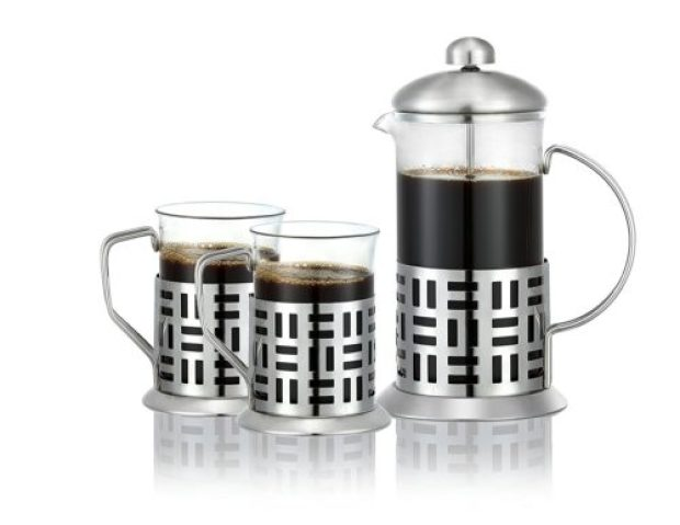 Dynamique French Press Coffee Maker (27oz) with 2 FREE matching cups