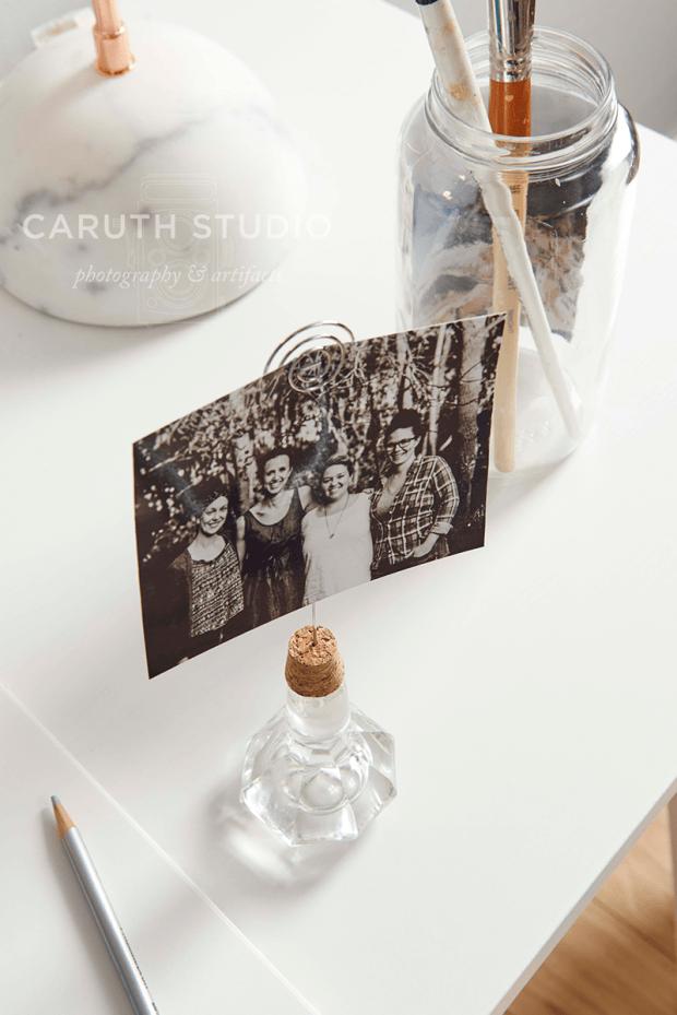 Cork knob photo display