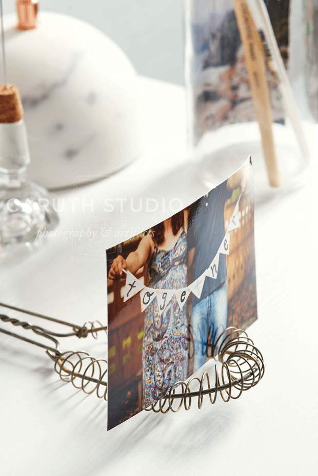 Photo display on wire whisk
