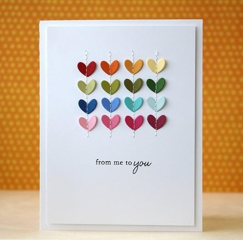 hearts on a card