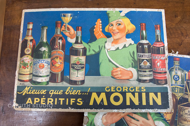 French advertisement for aperitifs