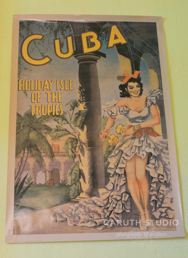 Old Havana travel poster