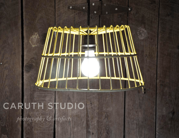 Egg basket pendant lamp