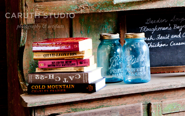 Books and jars