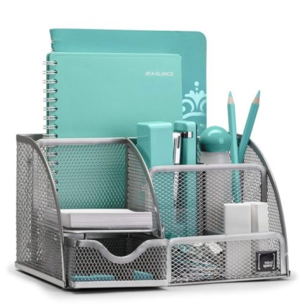 Mindspace Office Desk Organizer with 6 Compartments + Drawer + Pen & Pencil Holder