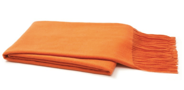 OneKingsLane_Solid Cashmere Throw, Orange