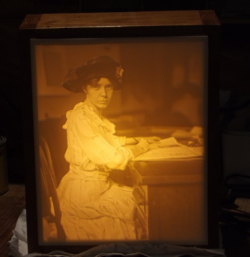 Carved old fashioned photo
