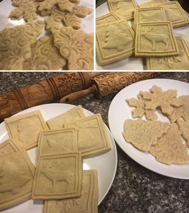 baked embossed cookies