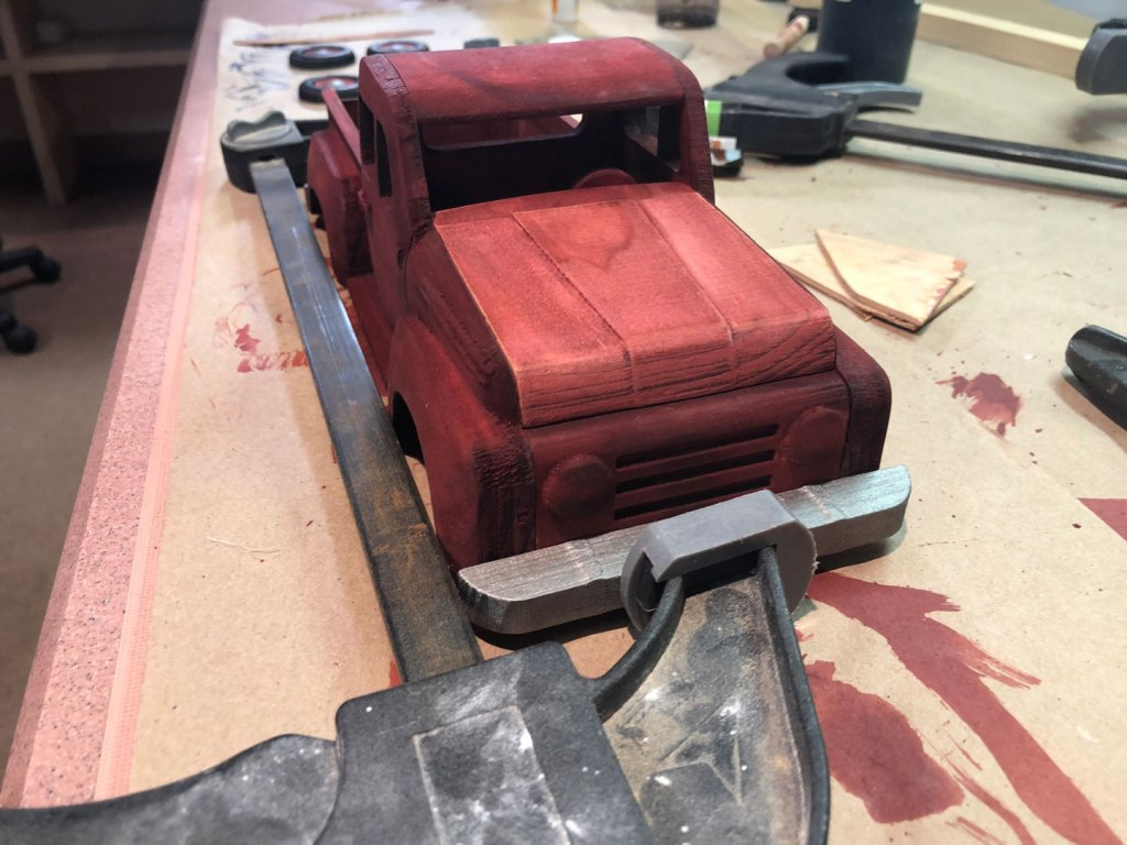 gluing bumpers