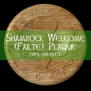Shamrock Welcome (Failte) Plaque