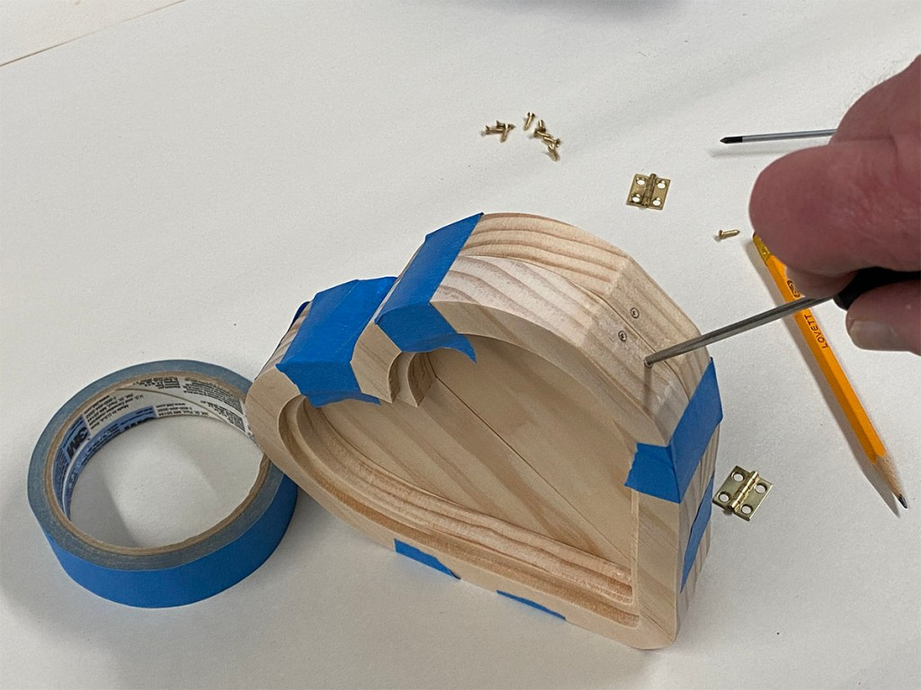 heart frame project hinges