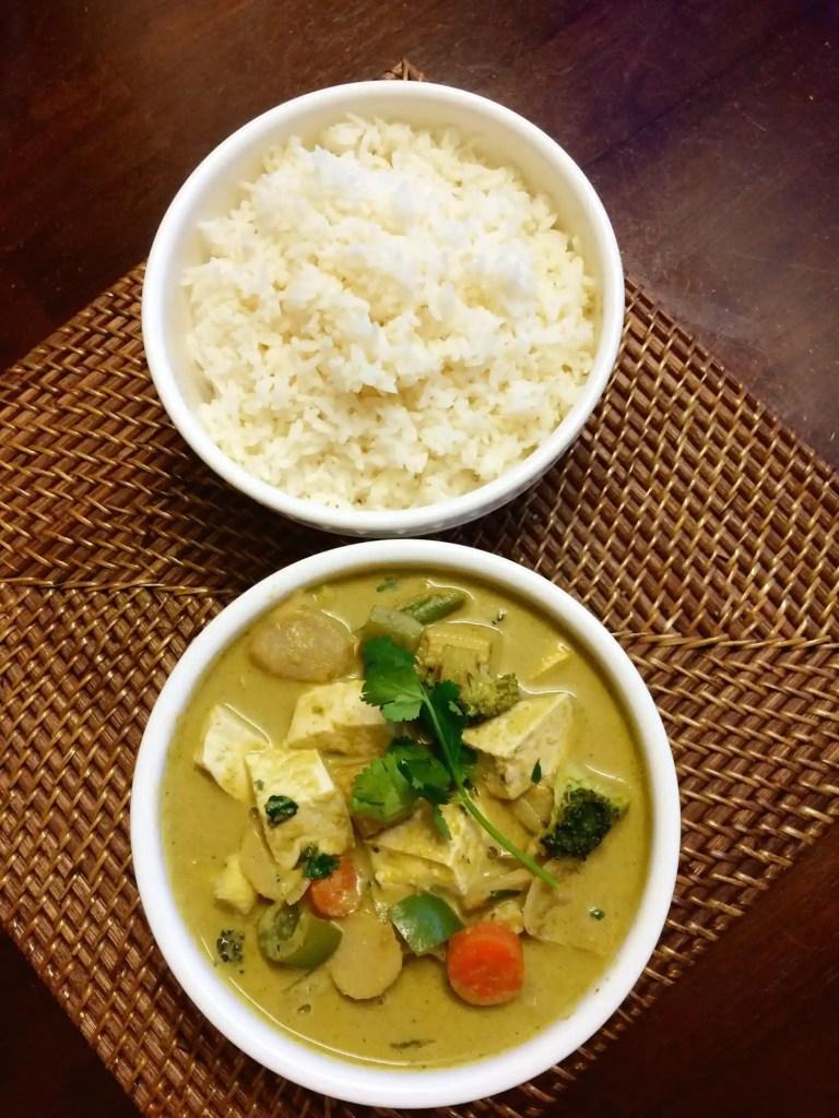 veg thai green curry