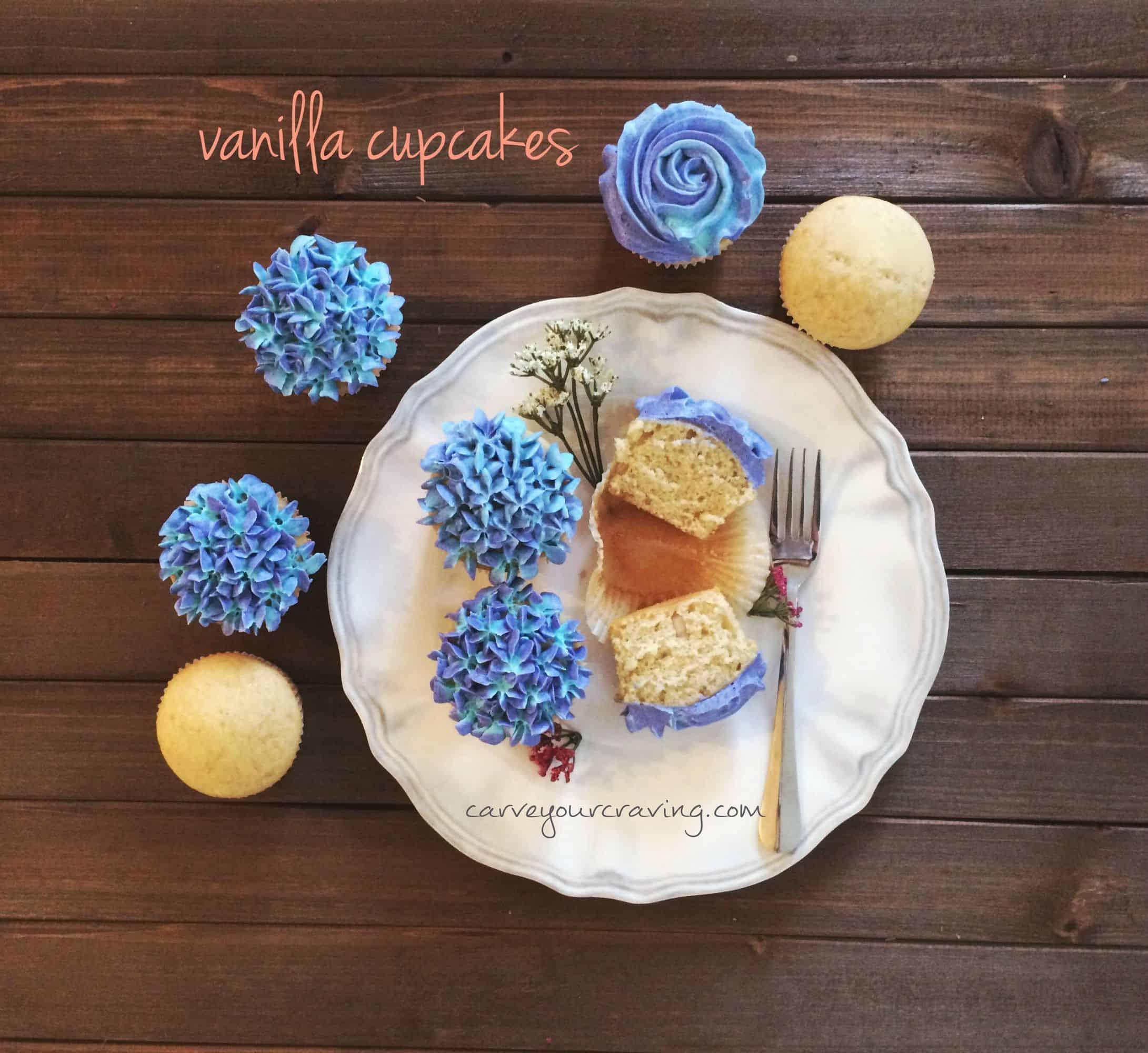 Easy Eggless Vanilla Cake Cupcakes Recipe No Condensed