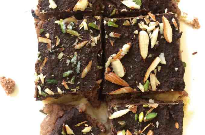 triple chocolate kalakand