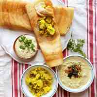 Healthy Mix dal masala dosa - no rice added