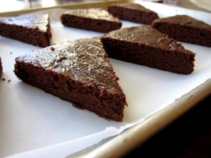 Peanut Butter Brownies cut in wedges