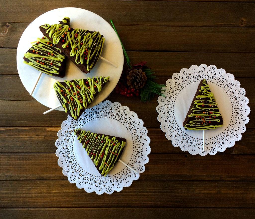 healthy vegan christmas brownies