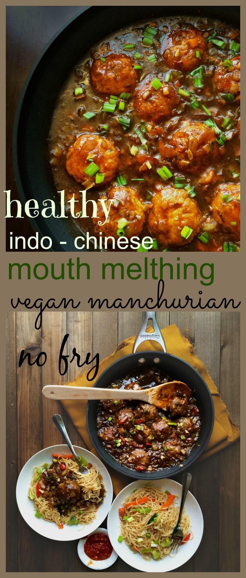 vegan healthy veg manchurian -no fry