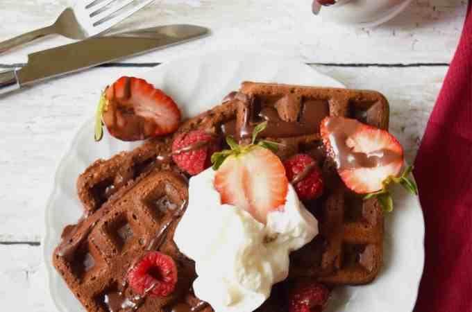Vegan easy  Chocolate waffles and pancakes made from scratch