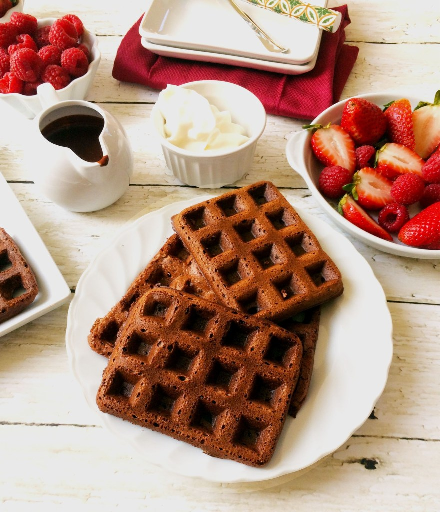 Easy Chocolate waffles and pancakes (eggless) (vegan)
