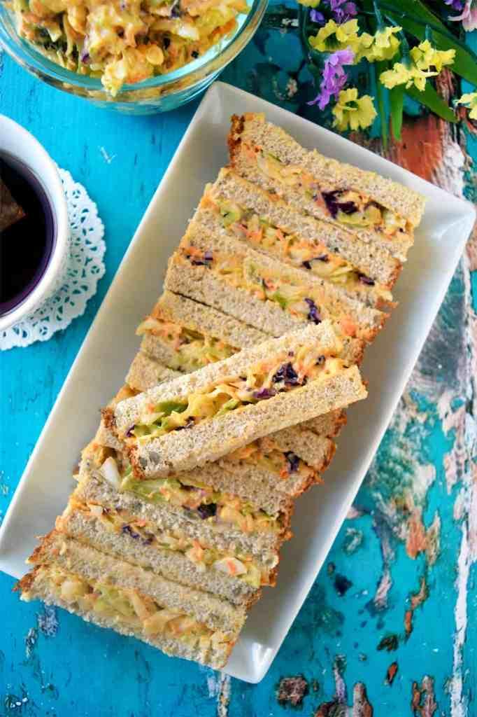 easy vegan coleslaw sandwich bars