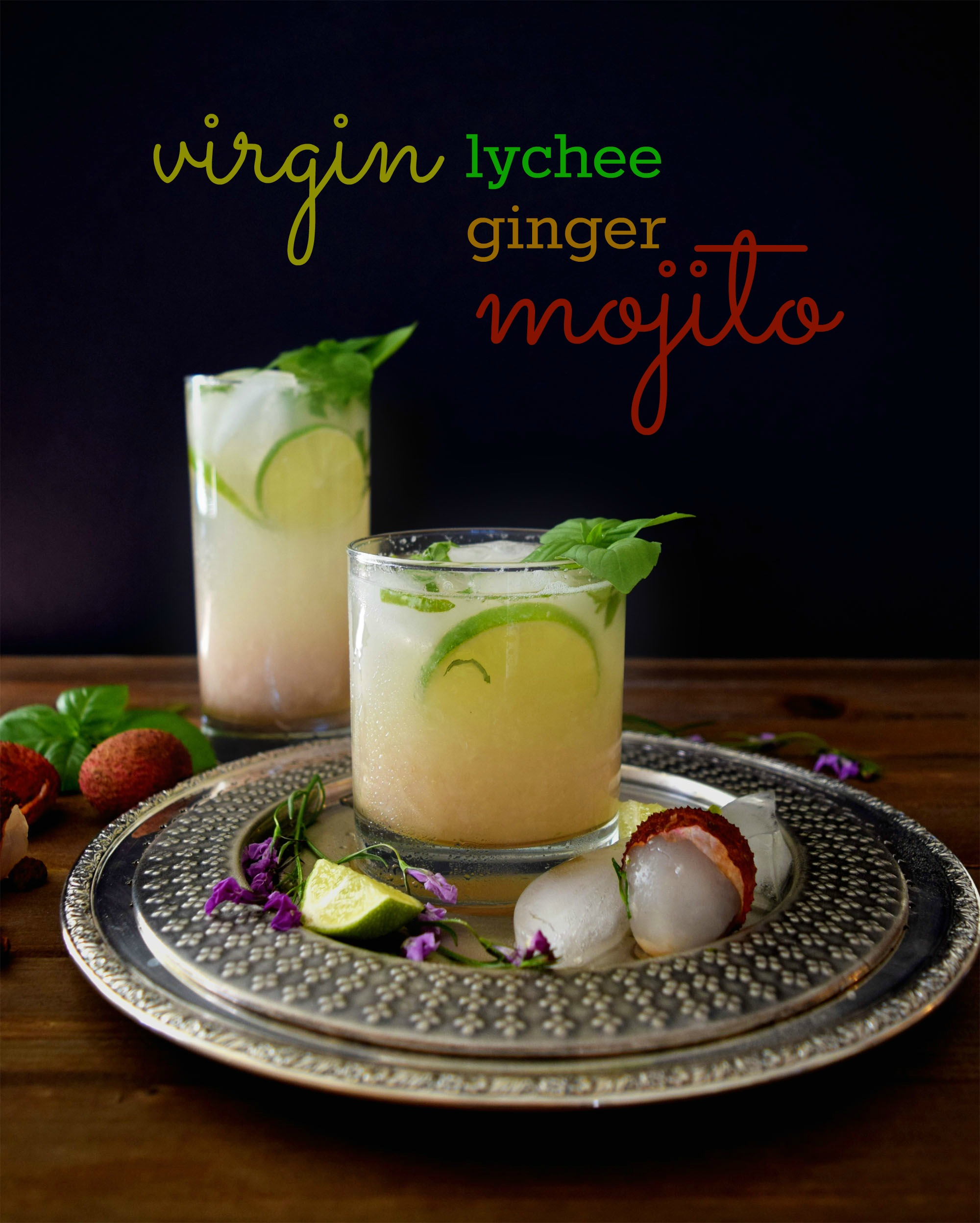 Virgin lychee ginger mojito with tips on making a perfect mojito