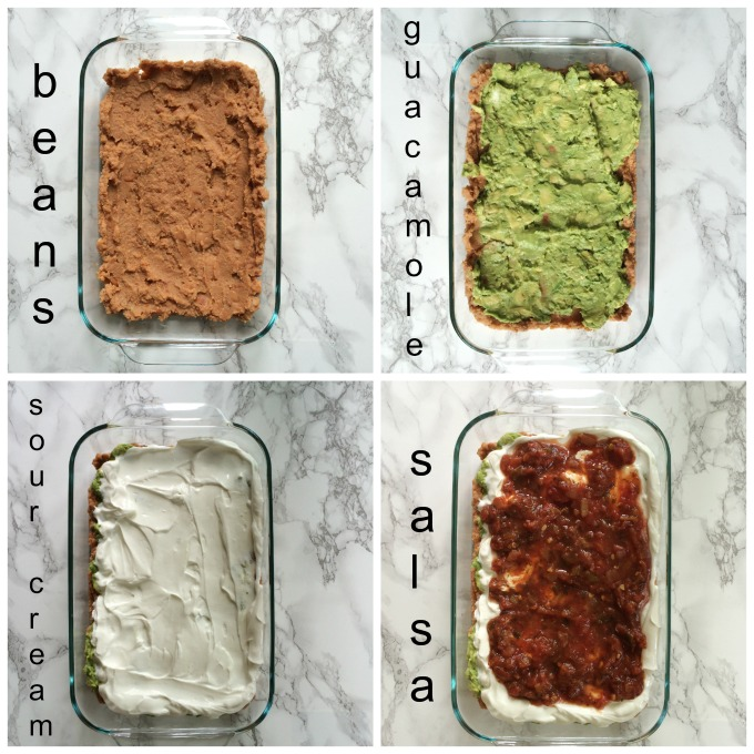 easy 7 layer mexican dip 4