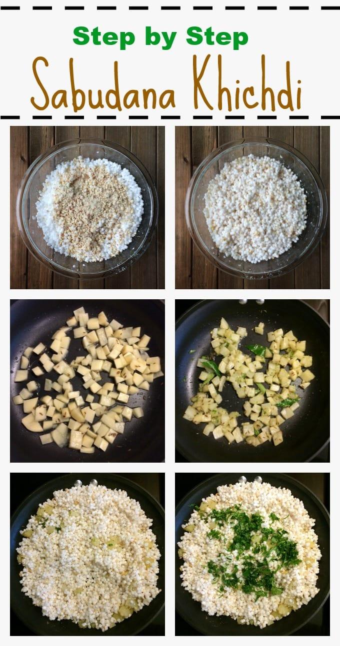 How to make perfect non-sticky Sabudana Khichdi / tapioca pearls pilaf