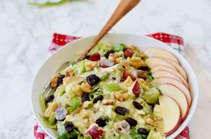 Skinny quinoa waldorf salad (vegan )( gluten-free)