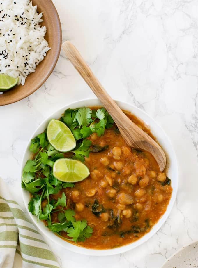 Instant Pot Chana Masala / chickpea curry / cholay recipe