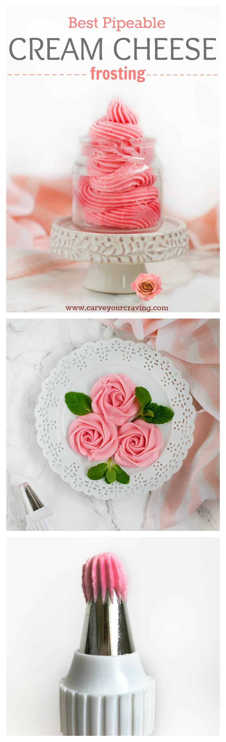 Cream cheese frosting for piping and decorating cakes/ cupcakes . Sturdy cream cheese frosting to pipe roses on cake
