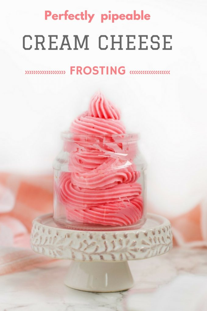 Cream cheese frosting for piping and decorating cakes/ cupcakes