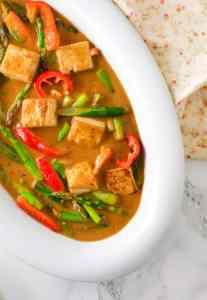 Orange Tofu Asparagus Green Beans