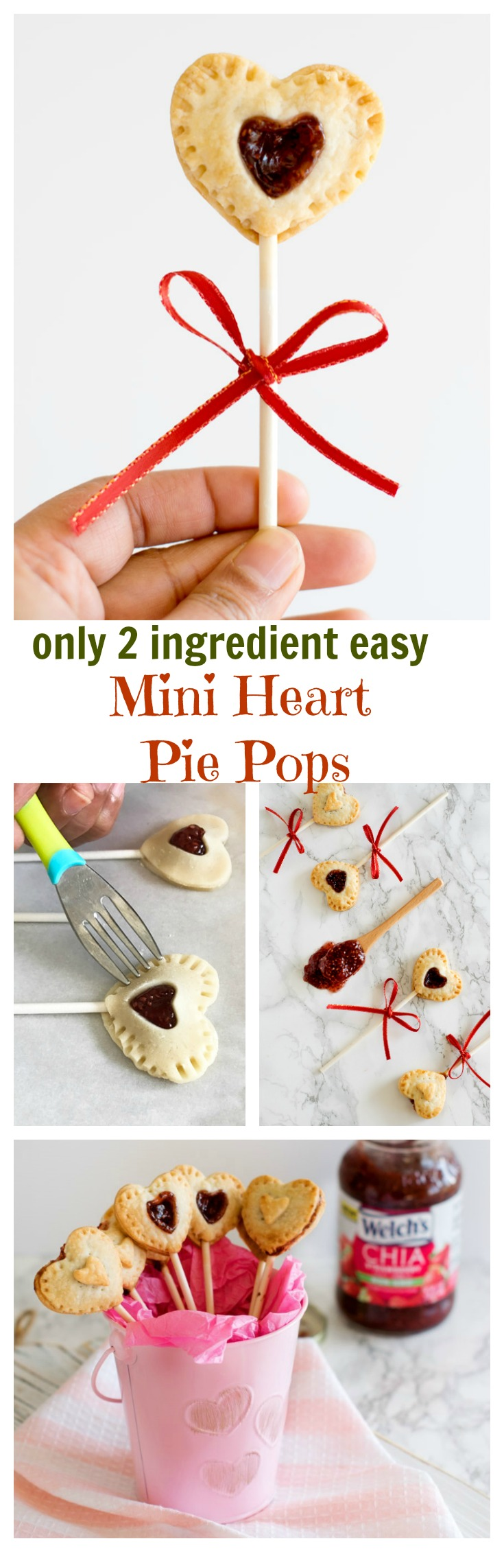2 ingredient mini heart pie pops valentines